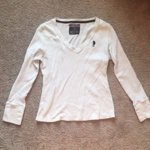 Polo by Ralph Laurent Long Sleeve V Neck Sweater